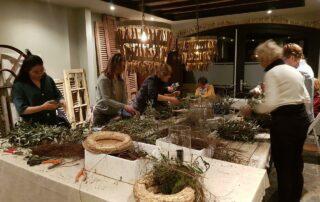 Workshop windlichttaart maken bij Antérieur Authentique in de studio.